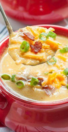 Sweet Potato Cauliflower Soup ...in the crock-pot!