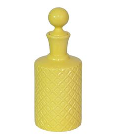 Take a look at this Yellow Ceramic Bottle Vase on zulily today!