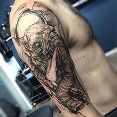 Elefante do Bruno. Muito obrigado man  feito na @inkonik_tattoo_studio #electricink