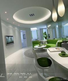 Permanent Link to : Futuristic Living Room Idea