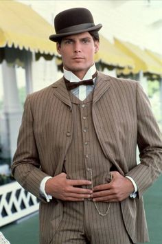 Christopher Reeve in Somewhere in Time Looks even better in color! Christopher Reeve, Movie Stars, Movie Tv, Dc Comics, Image Film, Films Cinema, Somewhere In Time, My Superman, Best Love Stories