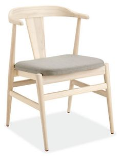 Influenced by Danish design, each Evan chair is handcrafted one at a time from solid wood by expert craftsmen in Massachusetts. Showcasing a beautiful mix of materials, Evan is a comfortable, inviting chair with a stunning silhouette no matter the angle. Evan's smooth, sculptural form comfortably cradles your back as you enjoy a meal, while shorter arms allow you to neatly tuck it underneath a dining table. Evan's soft shape mixes effortlessly with a variety of styles and highlights the…