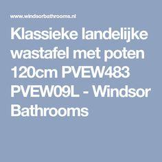 Klassieke landelijke wastafel met poten 120cm PVEW483 PVEW09L - Windsor Bathrooms