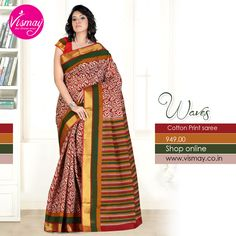 Vismay Cotton Print Saree Collections http://www.vismay.co.in/ShopDetail.aspx?SID=6725&utm_source=Facebook&utm_medium=FBWC&utm_campaign=ImpressAds