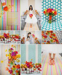 Modern Wedding Ideas - Bright Flowers, Bold Patterns