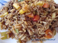 LE TRÉSOR GOURMAND: RIZ CHINOIS AU FOUR Rice Recipes, Chicken Recipes, My Best Recipe, Orzo, Scallops, Couscous, Chinese Food, Four, Quinoa
