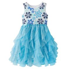 Disney Frozen Elsa Snowflake Sparkle Dress by Jumping Beans® - Girls 4-7