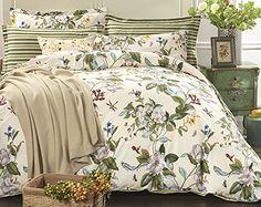ChezMax 100% Pure Cotton Green Floral Bedding Sheets Set ... https://www.amazon.com/dp/B01MS2LWFI/ref=cm_sw_r_pi_dp_x_xPvZybB96C7ZB
