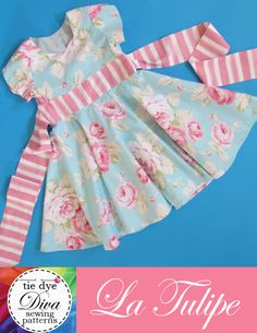 La Tulipe - Tulip Sleeve Dress Pattern PDF for girls by Tie Dye Diva. Part of the Bundle UP designers' collective at https://www.e-junkie.com/ecom/gb.php?cl=255368c=ibaff=256570
