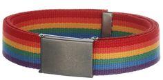 Rainbow Canvas Belt