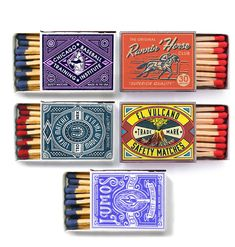 Collection of matchbox designs that I simply love. There is something about the way its printed that really gets me. Love the branding, awesome designs.