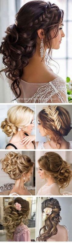 Killer Swept-Back Wedding Hairstyles ❤ If you are not sure which hairstyle to choose, see our collection of swept-back wedding hairstyles and you will find gorgeous and fancy looks! See more: http://www.weddingforward.com/swept-back-wedding-hairstyles/ #weddings #hairstyles #littlegirlhaircuts