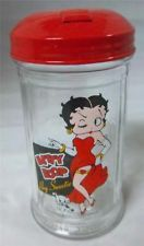 RARE BETTY BOOP PUDGY SUGAR SHAKER DISPENSER RED