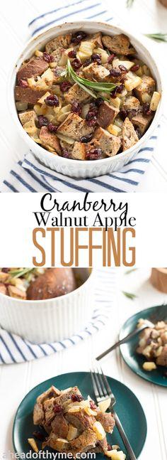 Cranberry Walnut Apple Stuffing via @aheadofthyme