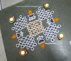 அழியாத கோலம்/ ముగ్గులు / रंगोली : NELLI KOLAM Rangoli Designs With Dots, Rangoli With Dots, Kolam Designs, Traditional Rangoli, Muggulu Design, Floor Art, Mehndi, My Favorite Things