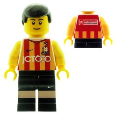 Official Lego & Custom Printed Minifigures & also Accessories Bradford City, Lego Minifigs, Custom Lego, Football Jerseys, Red Stripes, Legos, Soccer, Star Wars, Fan