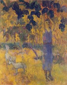 Paul Gauguin, Man Picking Fruit from a Tree, selected by Elio Gervasi.