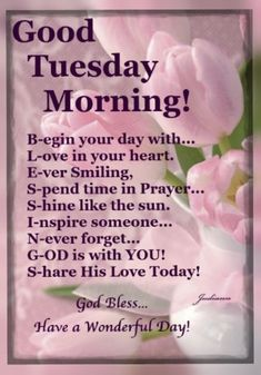 Enjoy a brand new Tuesday with 10 good morning tuesday to help bring some joy to your morning. Monday Morning Blessing, Wednesday Morning Greetings, Tuesday Quotes Good Morning, Tuesday Greetings, Happy Tuesday Quotes, Tuesday Humor, Morning Thoughts, Morning Greetings Quotes, Good Morning Messages