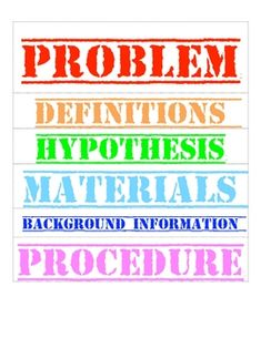 labels for science fair projects