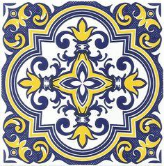 Mosaico Azulejos - 2014 Tile Patterns, Pattern Art, Textures Patterns, Decoupage, Islamic Art Pattern, Spanish Tile, Portuguese Tiles, Tropical Art, Splashback
