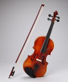 doyou think my kids would actually want to play with me?!? A Natural Violin Set by New Dimensions on #zulily today!