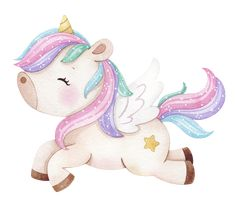 Kawaii Drawings, Colorful Drawings, Cute Images, Cute Pictures, Happy Birthday Art, Unicorn Fantasy, Creative Activities For Kids, Little Poney, Baby Album