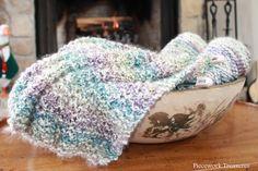 Simple Knitted Prayer Shawl Pattern | Piecework Treasures: a new trinity stitch pattern prayer shawl started
