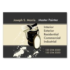 Painters  Painting Services Business Cards. Make your own business card with this great design. All you need is to add your info to this template. Click the image to try it out!