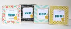 Let's Be Adeventurers 5 x 5 Picture Frame  Set of 4  Mini by Mmim, $24.00