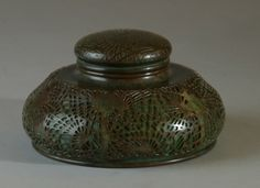 Image detail for -Antique Tiffany inkwell - Latique Antiques
