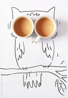 My Owl Barn: Cool Doodles by Manik and Ratan - It appears that even owls need coffee to perk up! Coffee Love, Coffee Art, Fashion Sketch Template, Zebra Art, Food Graphic Design, Cool Doodles, Plakat Design, Buch Design, Coffee Poster
