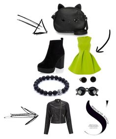 """Green"" by pourmoiettoi on Polyvore featuring mode, Loungefly en Lipsy"