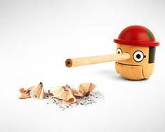Incorporating the famous cartoon character Pinnochio & a pencil sharpener. Making it really appealing to consumers. This is forcing two things to make the item sell.