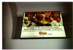#TBT Remember this? Connie's Pizza at the United Center back when Jordan was on the Bulls!  #chicago #pizza #restaurant #italian #food #city #history #bulls #blackhawks   www.conniespizza.com
