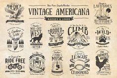 Vintage Americana Badges and Logos - Logos