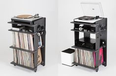 Developed by Turntable Lab, a New York-based record store, the Turntable Station is a $349 console for gear and record storage. All images via Kickstarter. DJs and music collectors...