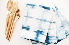 DIY: Faire du linge de maison Shibori // How to make shibori napkins