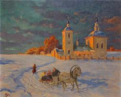 """oldrussia: """" By Grand Duchess Olga Alexandrovna of Russia. """"Her paintings, vivid and sensitive, are immersed in the subdued light of her beloved Russia"""" """""""