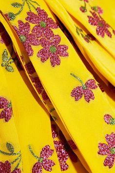 Gucci - One-shoulder Metallic Silk-blend Jacquard Midi Dress - Yellow - IT42