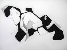 Charlotte Watson, Open Cut 6 (2014), ink & graphite on paper, 515x685mm framed $POA