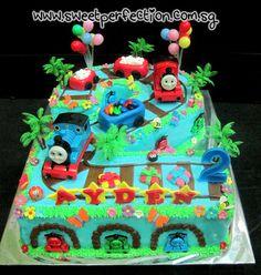 No. 2 Shape Thomas The Train Cake
