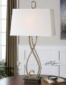 New! Uttermost Ferndale Scroll Table Lamp