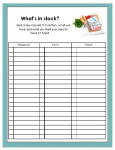 Shop Your Stock: Meal Planning from the Pantry {Includes Worksheet ...