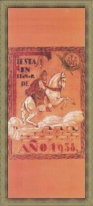 Cartel de fiestas de Alcoy del año 1938 Autor Anónimo