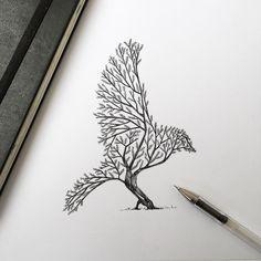 Beautiful Tree / Bird illustration in Illustration