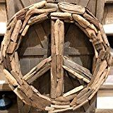 Driftwood Peace Sign Wreath - Driftwood 4 Us Driftwood Wreath, Driftwood Projects, Driftwood Art, Fish Tank Terrarium, Fleece Patterns, Epoxy Resin Table, 3 Piece Dining Set, Bentwood Chairs, Nautical Gifts