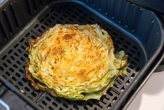 Air fryer cabbage steaks or quarters come out tender yet crispy on the edges with LOTS of flavor. If you love this vegetable this is a new way to try it. Cabbage Steaks, Corn Beef And Cabbage, Cabbage Recipes, Air Fryer Recipes Zucchini, New Recipes, Dinner Recipes, Toasted Pumpkin Seeds, Healty Dinner, Low Carb Side Dishes