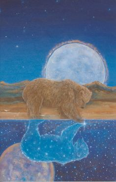 The Art of Cathy McClelland -      Bear's Reflection