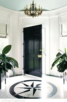 Renée Finberg ' TELLS ALL ' in her blog of her Adventures in Design: Black Doors - Elegant & Sexy
