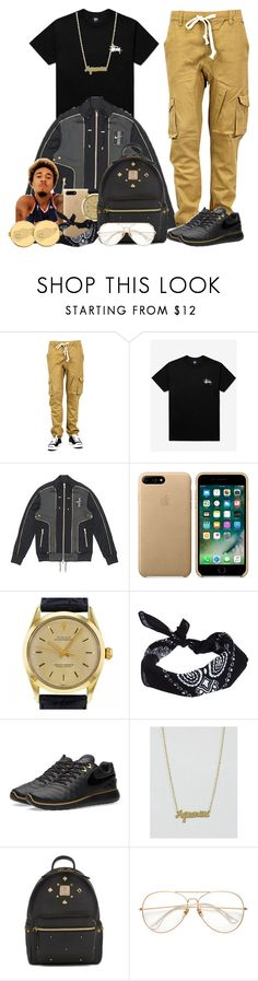 """""""B. Smyth x Might Cuff You"""" by vi-demigliore ❤ liked on Polyvore featuring Stussy, Rolex, ASOS, NIKE, Rock 'N Rose, MCM and LogoArt"""